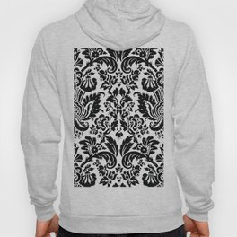 Black and White Damask Hoody
