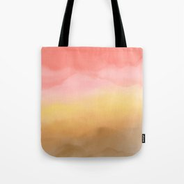 Boho pink brown ombre watercolor desert abstract paint Tote Bag