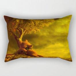 """Momentos en el Arbol"" Rectangular Pillow"