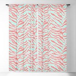 Tiger Print - Blush Mint Blackout Curtain