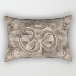 Om Symbol Lotus flower Vintage gold Rectangular Pillow