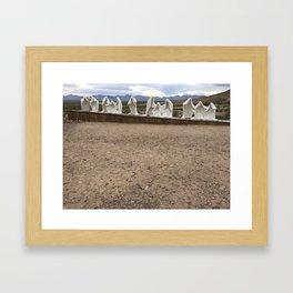 Ghost town rhyolite Framed Art Print
