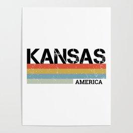 Kansas Design Gift & Souvenir For Kansas Print Poster