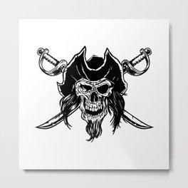 Pirate Skull Best Gift Metal Print