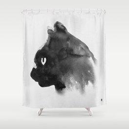 Cat Portrait (Ink Painting) Shower Curtain
