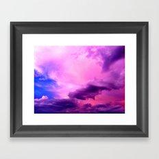 Purple Sky Framed Art Print