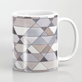 Triangle Pattern no.22 grays Coffee Mug