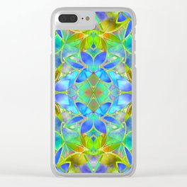 Floral Fractal Art G20 Clear iPhone Case