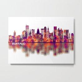 Buffalo New York Skyline Metal Print