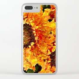 Sunflowers Abstracted Clear iPhone Case