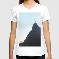 christ T-shirts featuring Christ Redeemer by Hugo Lopez