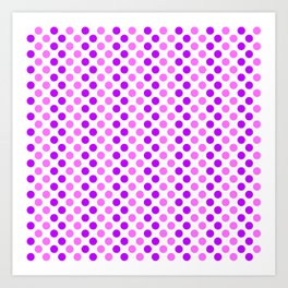 Purple and Pink Polka Dots Art Print