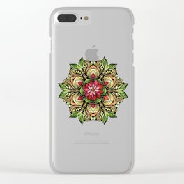 Ornamented Flowers Clear iPhone Case