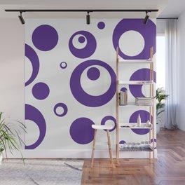 Circles Dots Bubbles :: Grape Juice Inverse Wall Mural