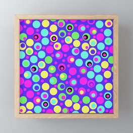 Polka Dot Party: Deluxe Brights Framed Mini Art Print