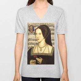 Musical Queen Anne Boleyn Unisex V-Neck