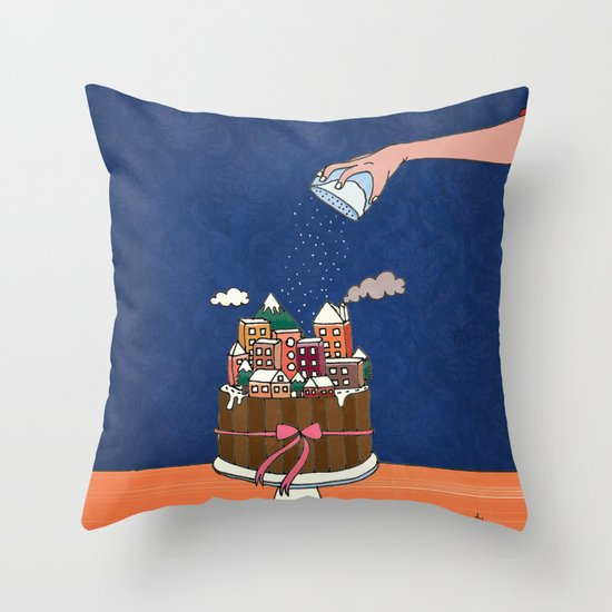 Powdered sugar, not snow! Throw Pillow