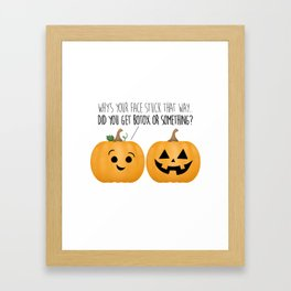 Pumpkin Botox Framed Art Print