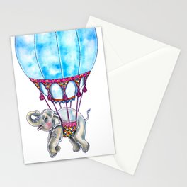 Hot Air Balloon Elephant Stationery Cards