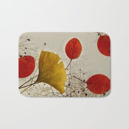 Autumnal colors Bath Mat