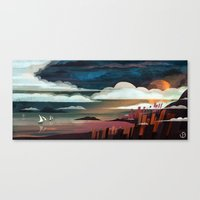 boats Canvas Prints featuring Boats by youcoucou