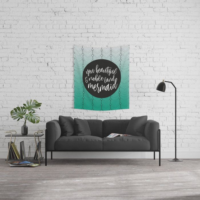 Jade Green Mermaid, Parks and Rec Leslie Knope Quote Wall Tapestry