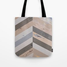 Reclaimed Barnwood Herringbone Pattern Tote Bag