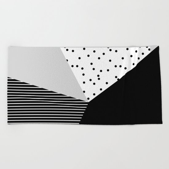 Geometry Blocks 10 Beach Towel