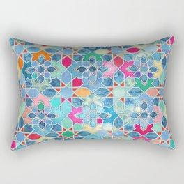 Pretty Pastel Moroccan Tile Mosaic Pattern Rectangular Pillow