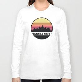 Jersey City Skyline Long Sleeve T-shirt