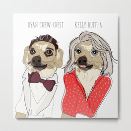 Celebrity Dogs-Ryan Chew-Crest & Kelly Ruff-A Metal Print
