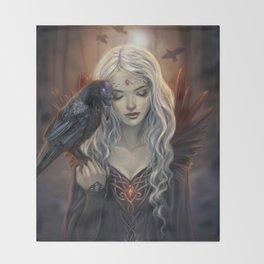 Ravenkin Throw Blanket