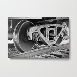 Rustic Wheels Metal Print