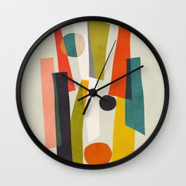 Sticks and Stones Wall Clock