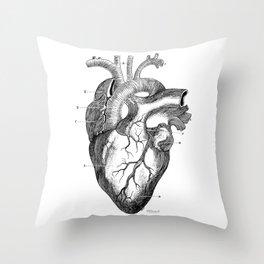 Anatomic hearth engraving Throw Pillow