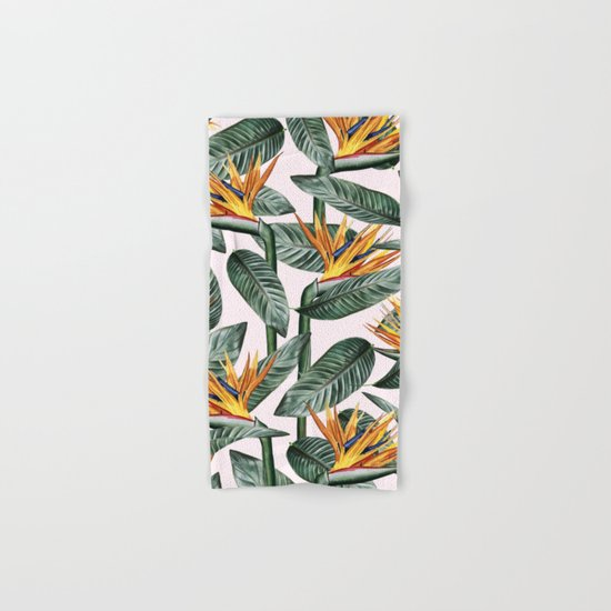 Bird Of Paradise Pattern #society6 #decor #buyart Hand & Bath Towel