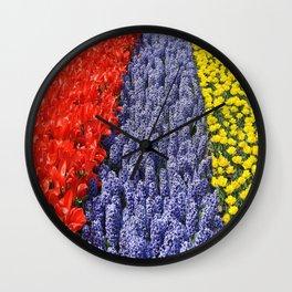 Blumen Feld Wall Clock