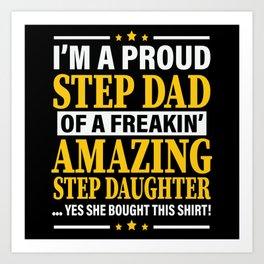 Funny Bonus Dad Shirt Väter Tag Art Print
