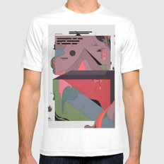 Ancient Infographics White MEDIUM Mens Fitted Tee