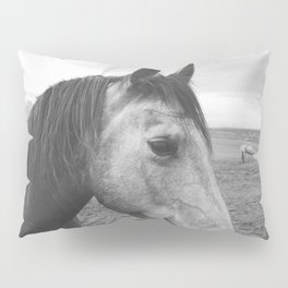 Horse Print in Black and White Pillow Sham