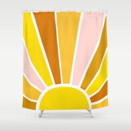 Sun Ray Burst Shower Curtain