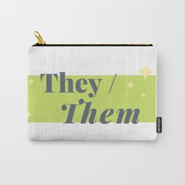 They / Them (Green) Carry-All Pouch