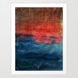 Storm at Sunset Art Print