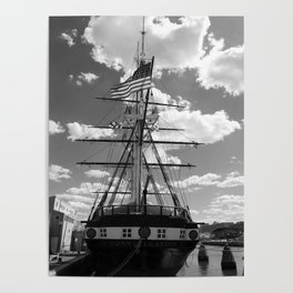 Baltimore Harbor - USS Constellation Poster