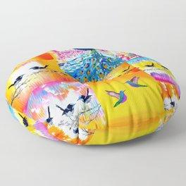 Yellow designs Floor Pillow
