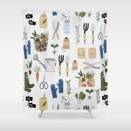 Kitchen Garden Pattern Shower Curtain