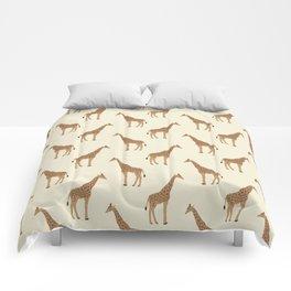 Giraffe animal minimal modern pattern basic home dorm decor nursery safari patterns Comforters