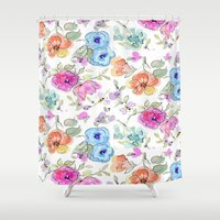 bees Shower Curtains featuring bees by Ariadne