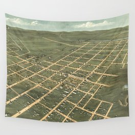 Vintage Pictorial Map of Bowling Green KY (1871) Wall Tapestry