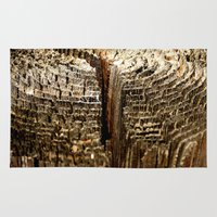 tree rings Area & Throw Rugs featuring Tree Rings by tracy-Me